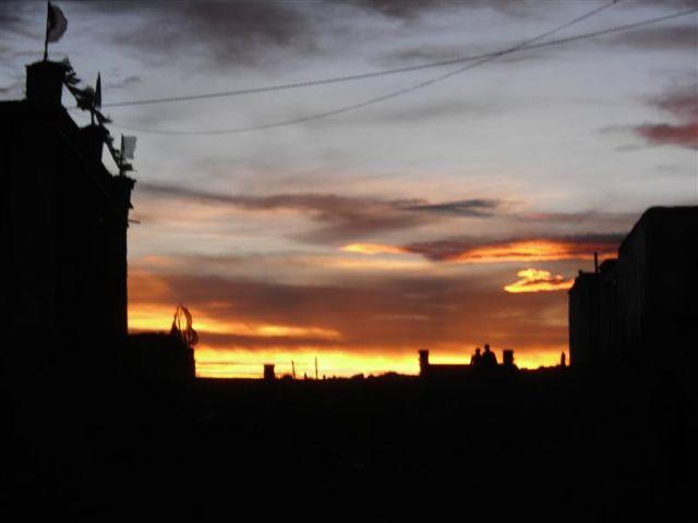 Sonnenuntergang in Darchem, dem Ausgangspunkt für den Kailash