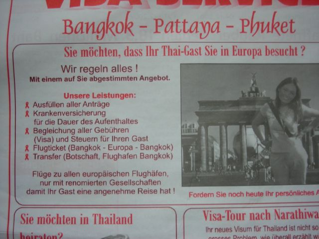 'Thai Gast' vor Brandenburger Tor. Wir tun alles damit ihr Gast eine gute Reise hat...