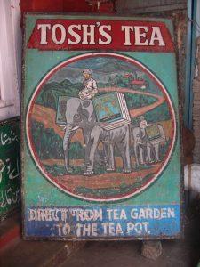 old tea advertisement