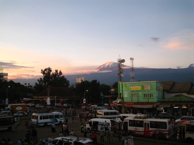 Kili seen from Moshi busstand